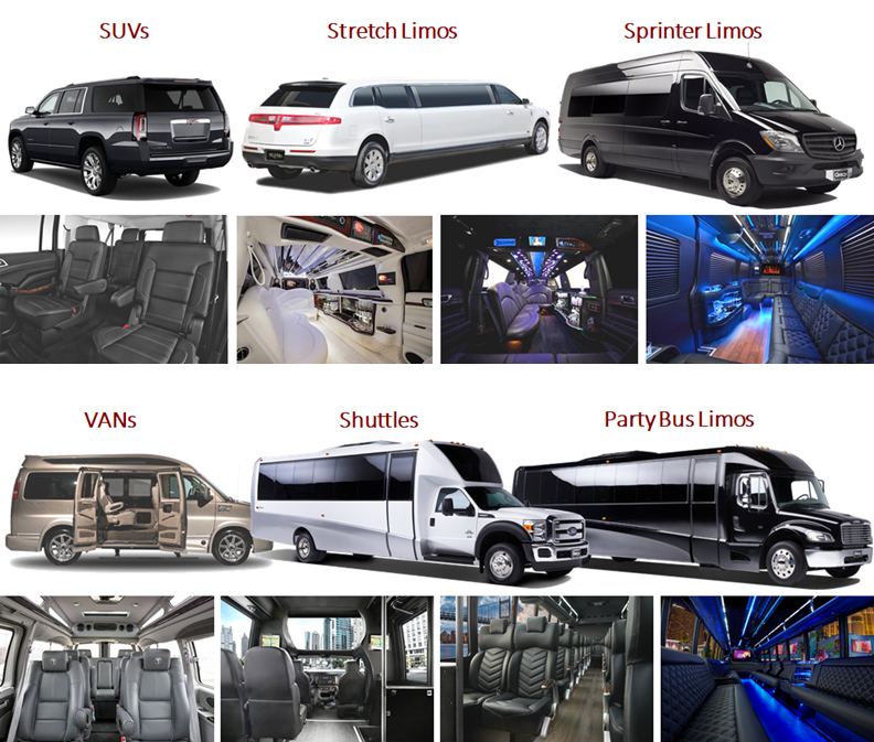 Chauffeured Group Transportation Vehicle Options SUVs, Passenger Vans, Shuttle Buses, Party Bus Limos in Minneapolis MN Photos