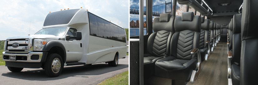 Aspen Limo Minneapolis MN - F-550 Executive Passenger Bus - Interior and Exterior Photo