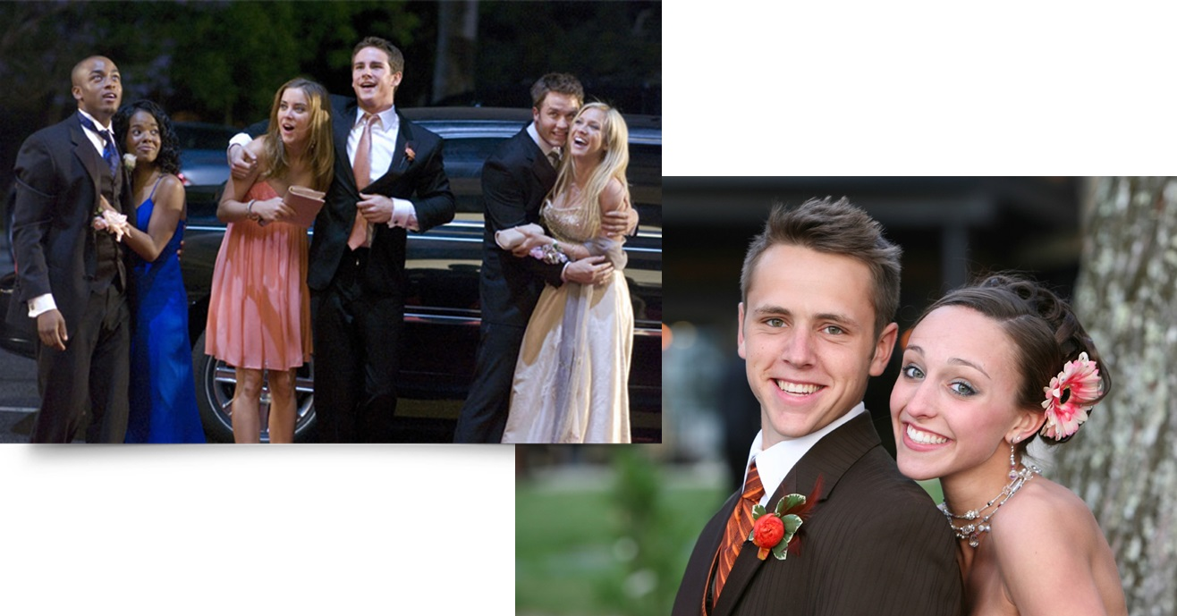 Prom Couples and Limo Aspen Limo Minneapolis MN