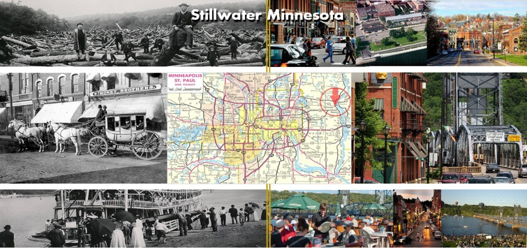 Historic Stillwater Minnesota - Past and Present Photo Montage