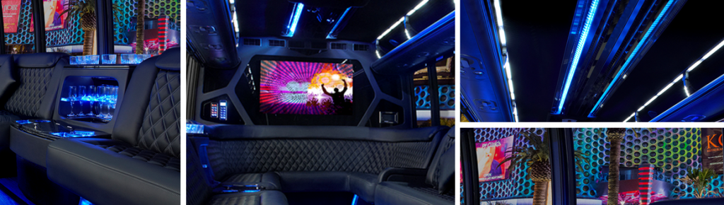 34 Passenger Party Bus Limo Photo Montage
