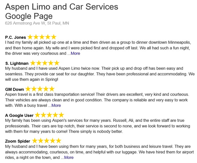 Customer Reviews from St. Paul MN Customers