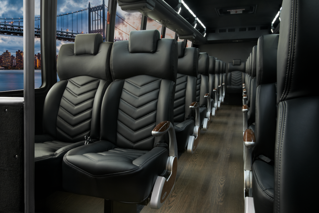 F-550 Luxury Shuttle Mini Bus Interior Seating