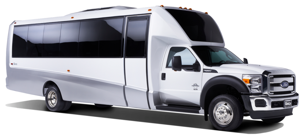 F-550 White Luxury Shuttle Bus