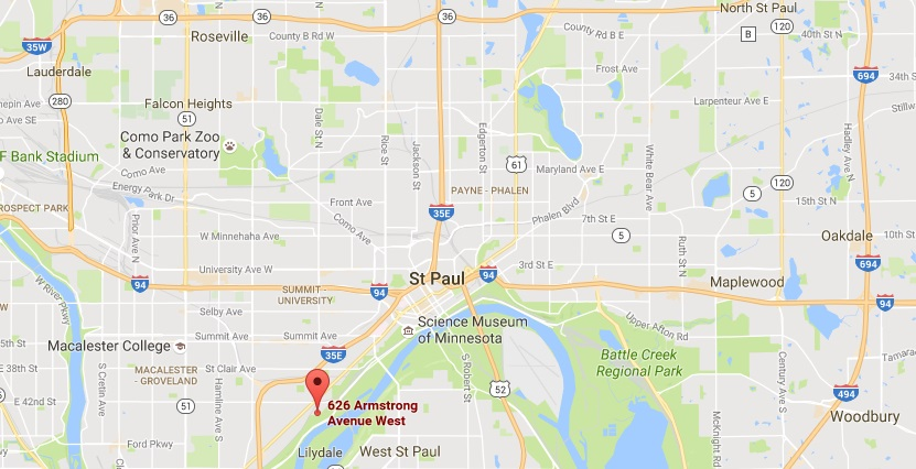 St Paul MN Aspen Limo and Car Services Google Street Map Location