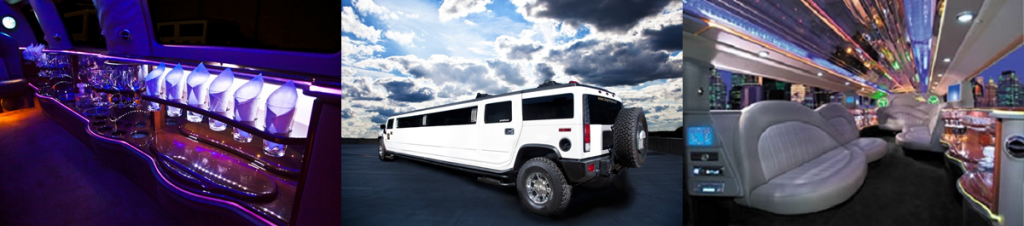 Minneapolis MN Hummer Stretch Limo Photo Montage Outside Front and Interior