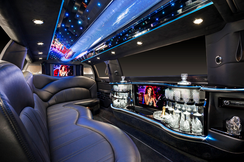 Lincoln MKT Stretch Limousine Black Interior