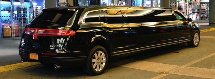 Lincoln MKT Stretch Limo Night Lighting