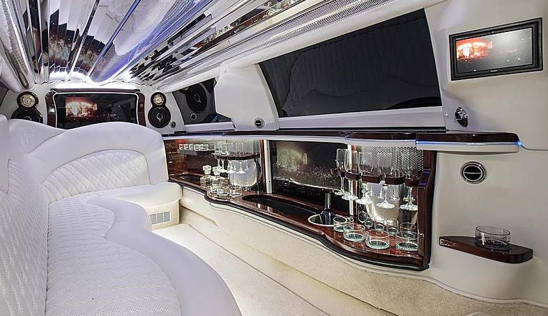 Lincoln MKT Stretch Limo White Interior