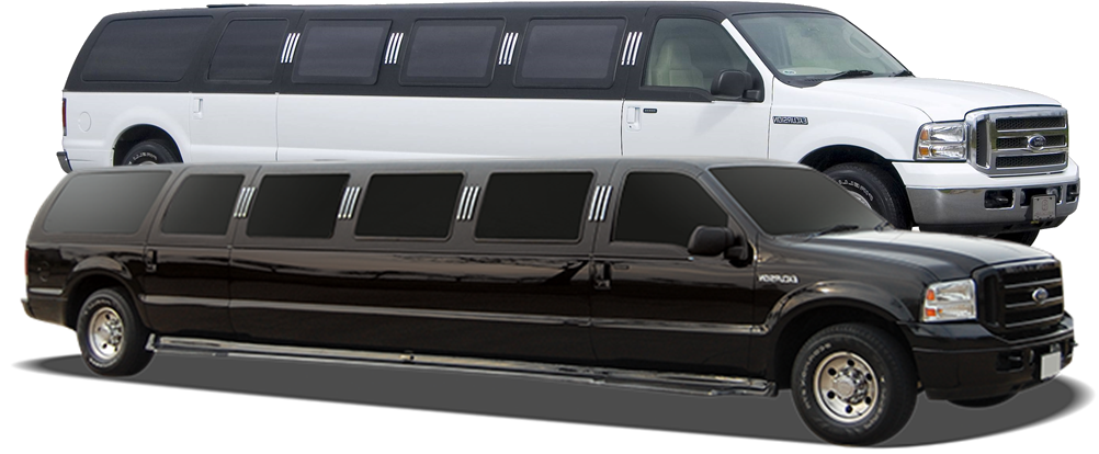 SUV Excursion Stretch Limo White and Black Limo Rental Minneapolis / St Paul Minnesota