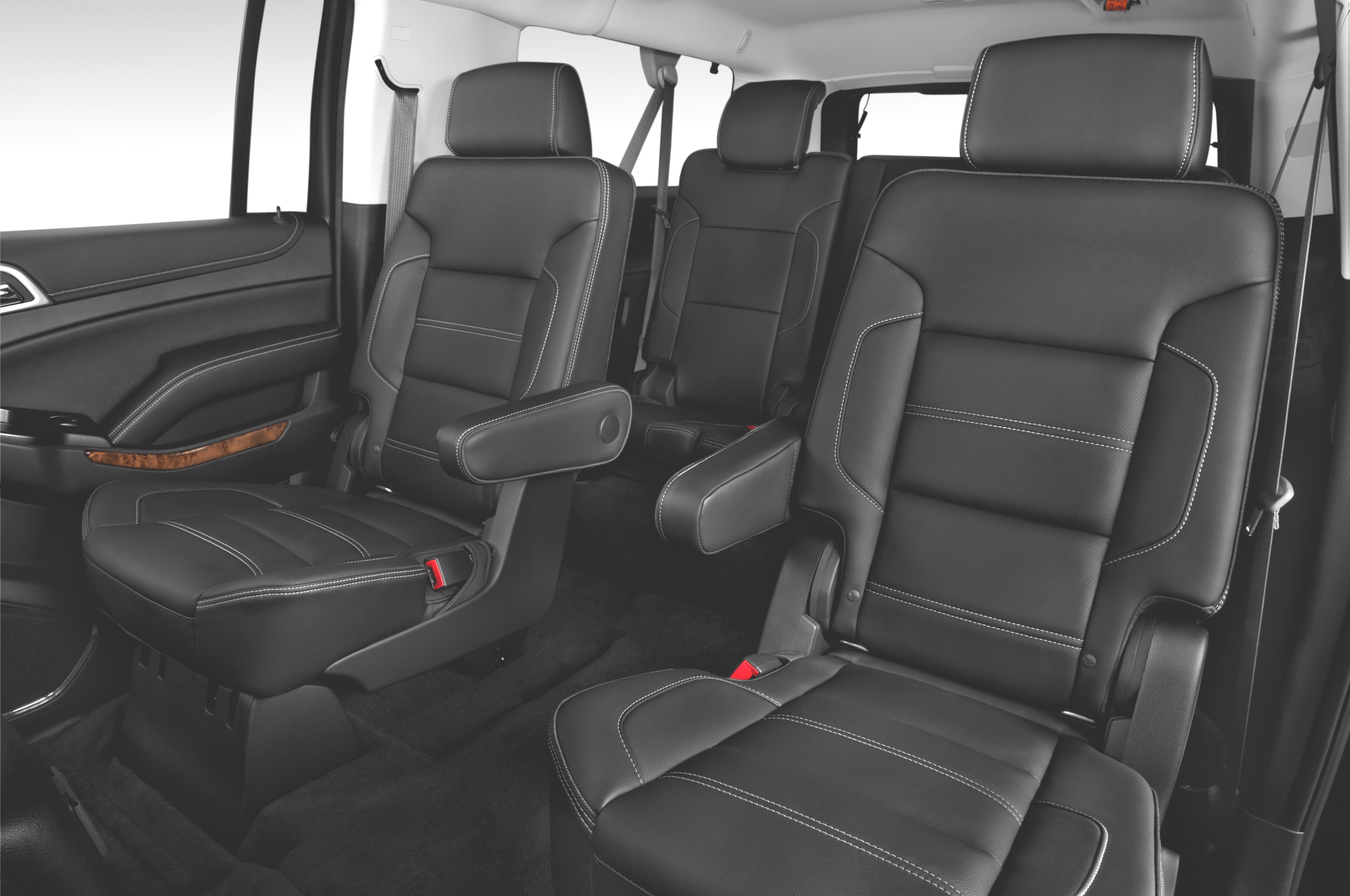 GMC Yukon Denali Car Services Minneapolis MN / St Paul Minnesota Black Interior Seating View