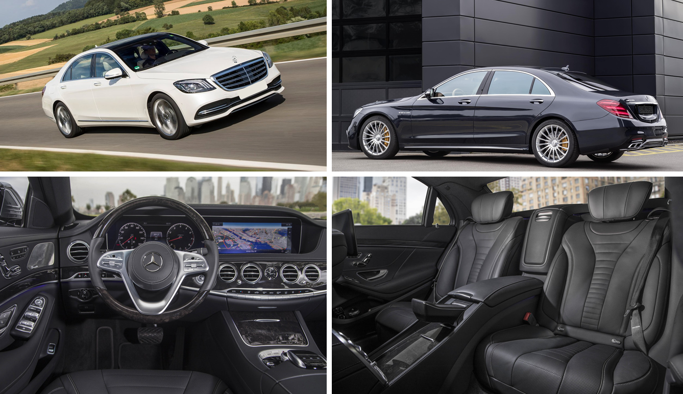 Mercedes-Benz 2018 S560 Chauffeuered Car Services Minneapolis MN / St Paul Minnesota White and Black Exteriors