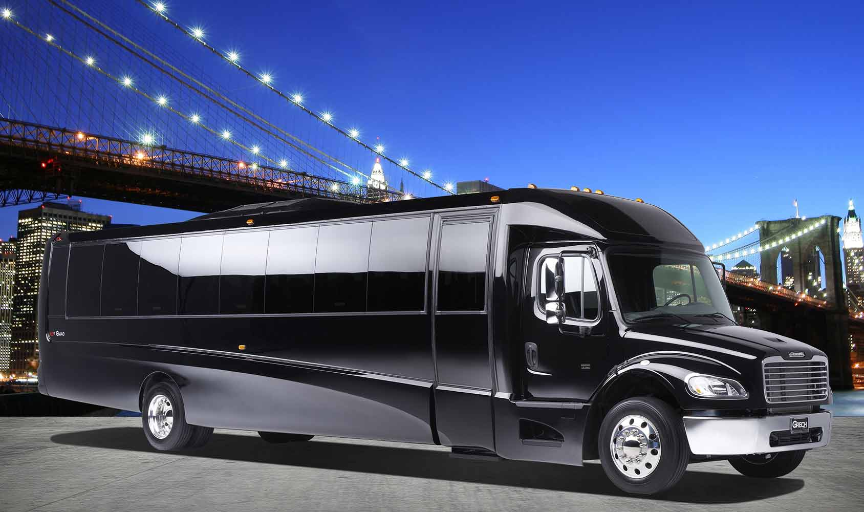 Party Bus Limo Services Minneapolis MN / St Paul Minnesota Exterior Side View