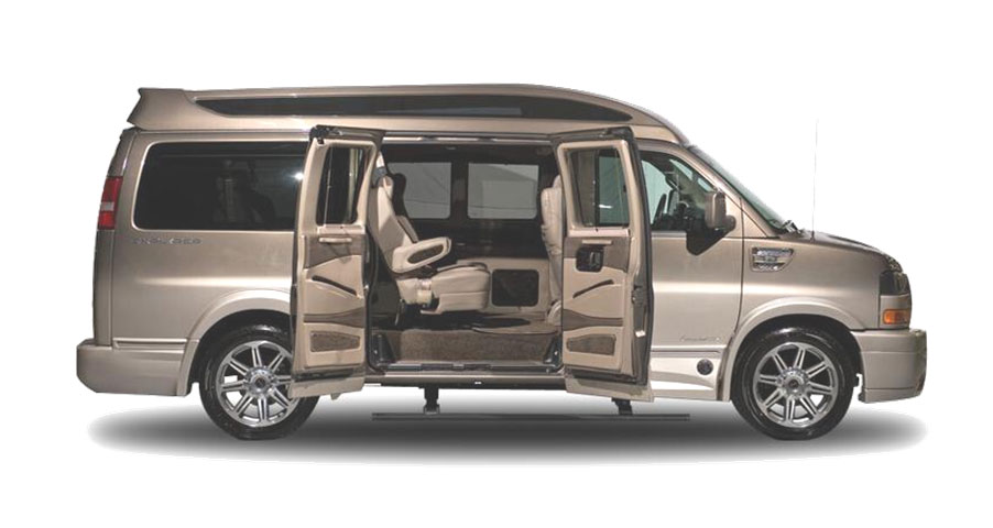 Group Passenger Van Services Minneapolis MN / St Paul Minnesota Exterior Side View Door Open