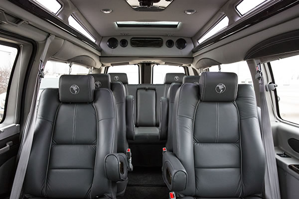 Group Passenger Van Services Minneapolis MN / St Paul Minnesota Interior View Leather Seating