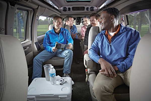 Group Passenger Van Services Minneapolis MN / St Paul Minnesota Men's Group Enjoying Transportation Experience