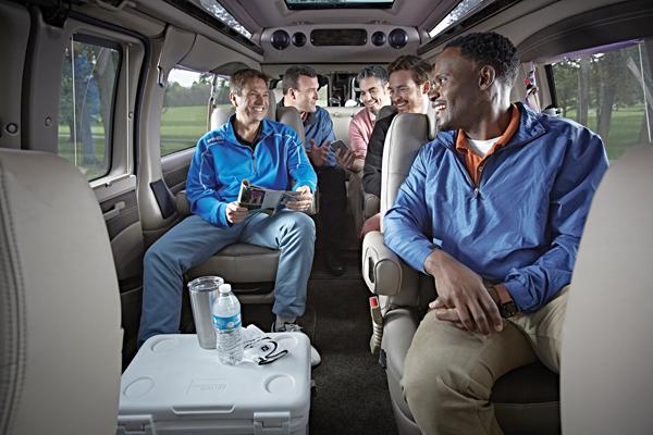 Group Passenger Van Services Minneapolis MN / St Paul Minnesota Men's Group Enjoying Transportation Experience