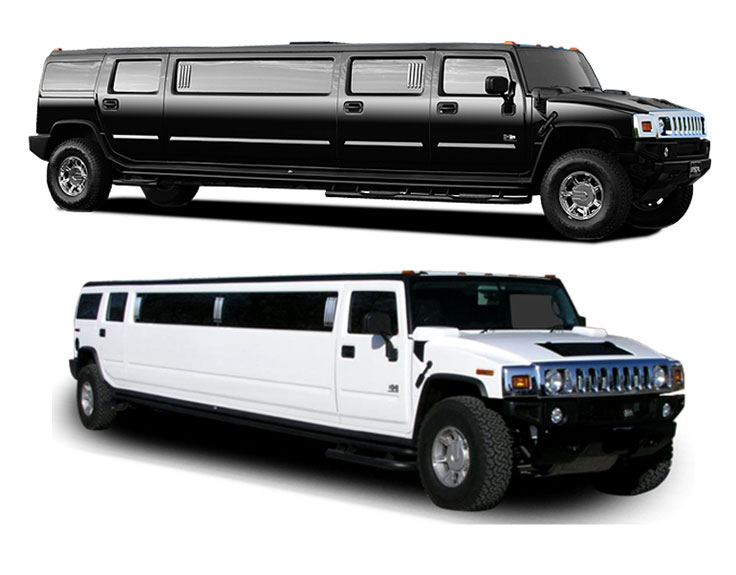 SUV Stretch Limo Services Minneapolis MN / St Paul Minnesota White and Black Side View