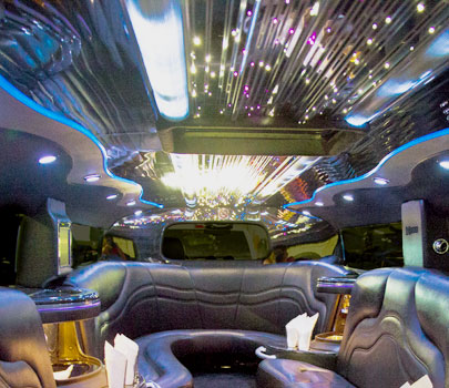 H2 Hummer Stretch Limo Services Minneapolis MN / St Paul Minnesota Interior Lighting