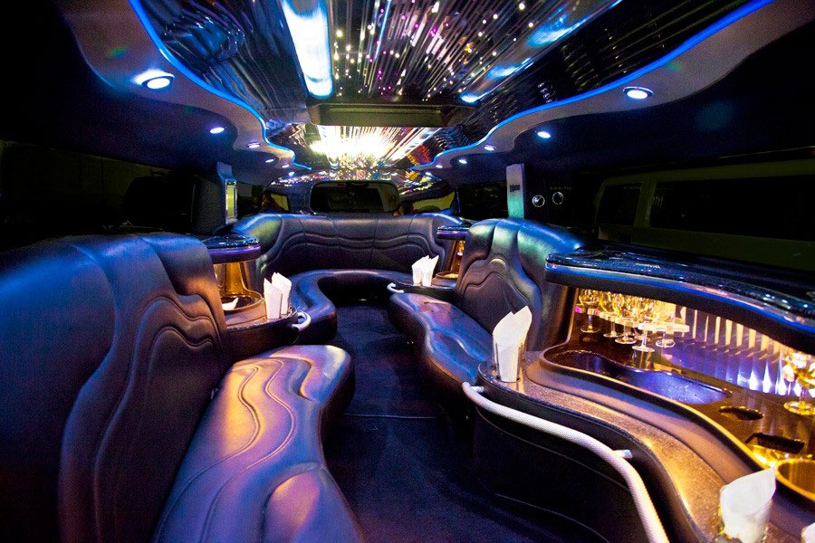 H2 Hummer Stretch Limo Services Minneapolis MN / St Paul Minnesota Lighting Interior