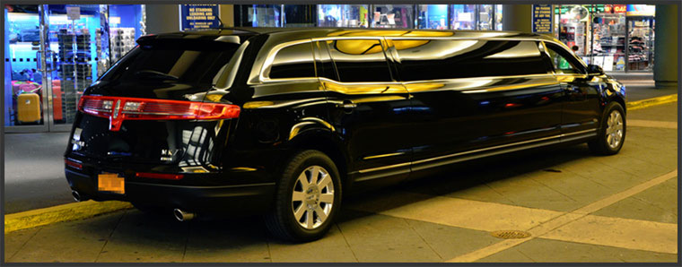 Stretch Limo Services Minneapolis MN / St Paul Minnesota Black Exterior Night
