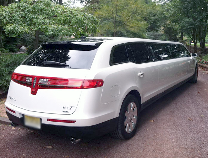 Stretch Limo Services Minneapolis MN / St Paul Minnesota White Rear-Side View