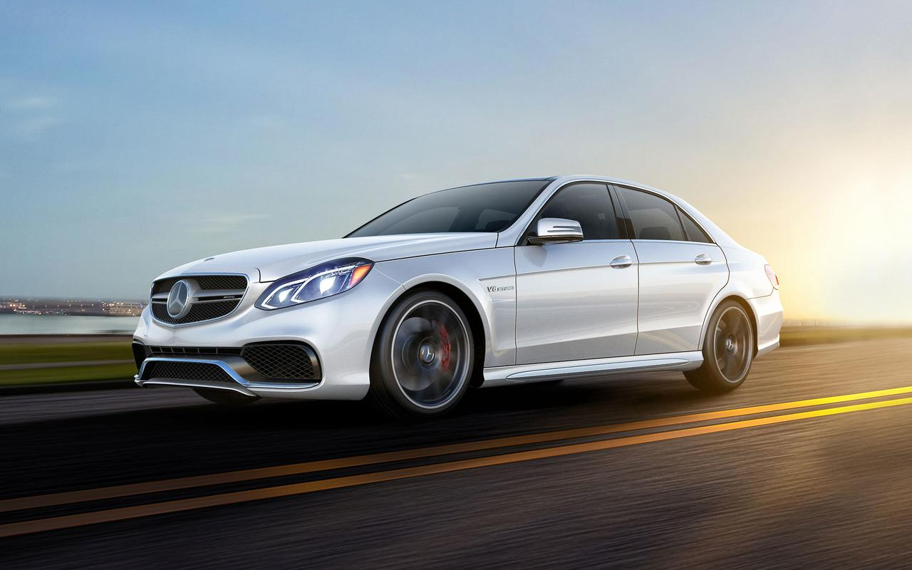 Mercedes Sedans Car Services Minneapolis MN / St Paul Minnesota White on Open Road