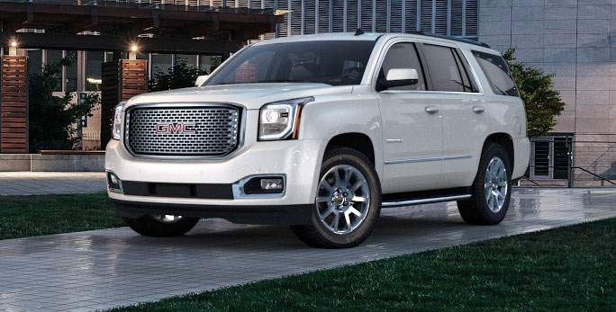 GMC Yukon Denali Car Services Minneapolis MN / St Paul Minnesota White Front-Side View