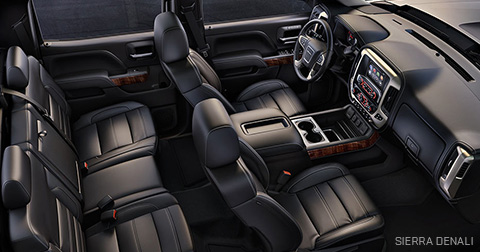MC Yukon Denali Car Services Minneapolis MN / St Paul Minnesota Black Interior Area