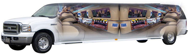SUV Stretch Limo Services Minneapolis MN / St Paul Minnesota Interior X-Ray View