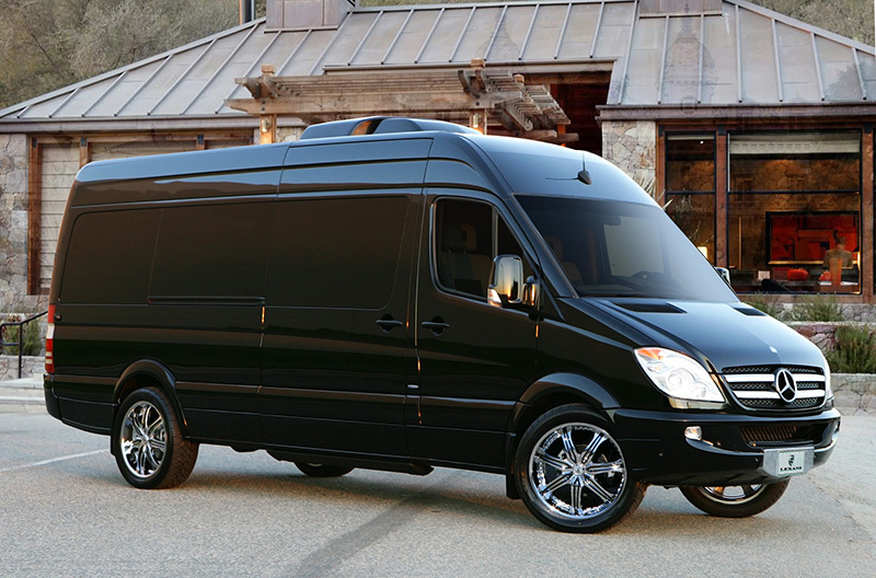 Custom Mercedes-Benz Sprinter Party Bus Limousine Photo Minneapolis / St Paul / MN