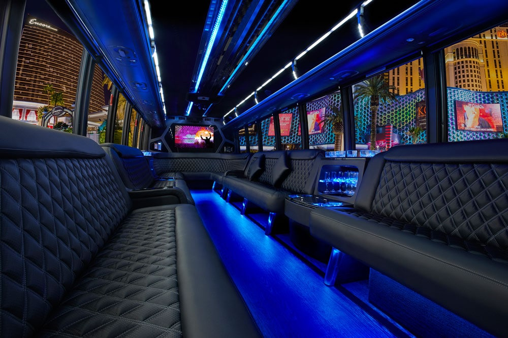 Party Bus Limo Services Minneapolis MN / St Paul Minnesota Interior Party Enviroment