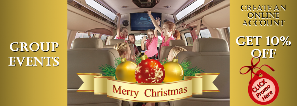 Christmas Holiday Group Events LImo Passenger Bus Services Rentals Minneapolis / St Paul Minnesota