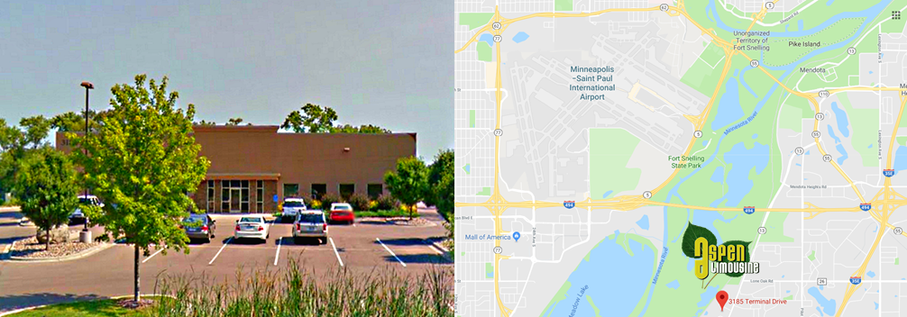 Aspen Limo Showroom and Google Map 3185 Terminal Dr, Suite 200, Eagan, MN 55121 Garage Location
