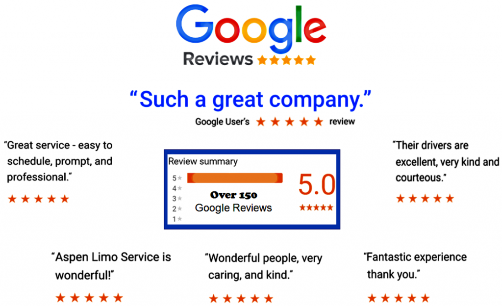 Eagan MN Google 5 Star Reviews for Aspen Limo and Car Services