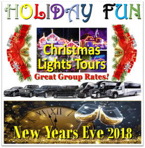 Minneapolis Holiday Christmas New Years Group Transportation - Limos, Party Buses, Shuttles