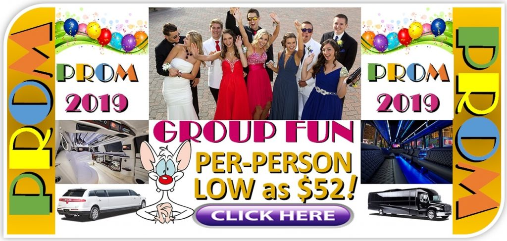 Prom Limo Party-Bus Deals - Low Prom Limo Group Rates - Minneapolis - St Paul - MN