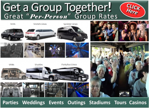 Group Transportation Great Per-Person Rates Minneapolis - Limos, Vans, Shuttle Buses. Party Buses - Aspen Limo