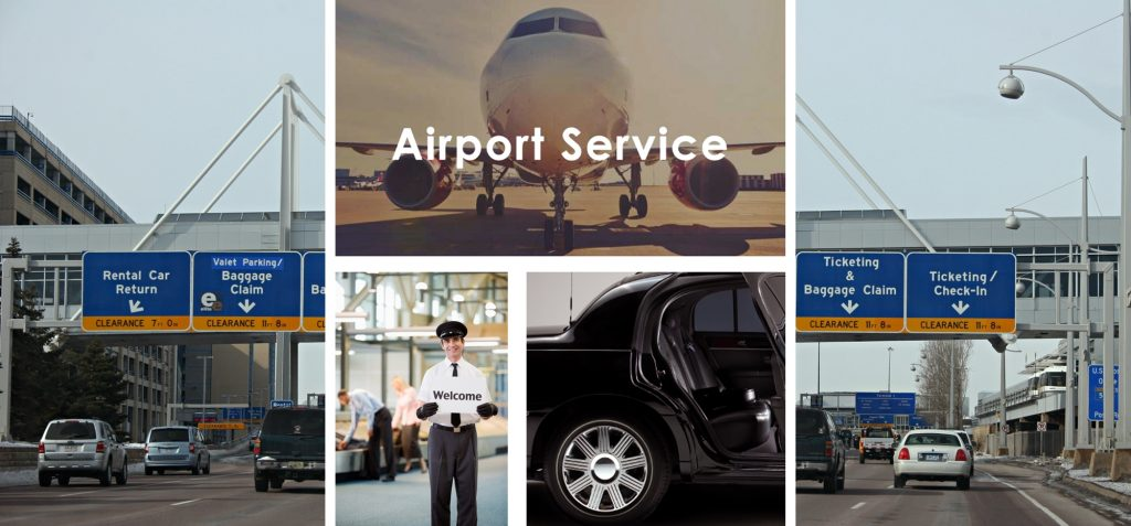 Airport Limo and Car Services -Photo Montage- Aspen Limo and Car Services - MSP International Airport-Minneapolis MN