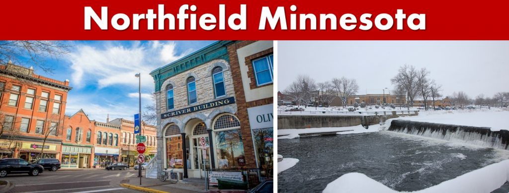 Northfield MN Downtown and River Front Photo