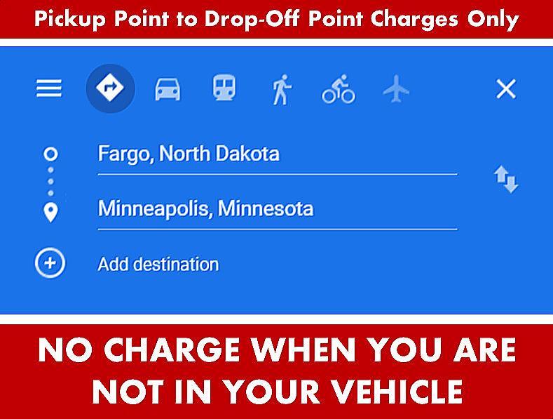 Fargo ND-Moorhead MN Car Limo SUV Van Shuttle Party Limo Transportation From Aspen Limo Minneapolis to Fargo ND-Moorhead MN