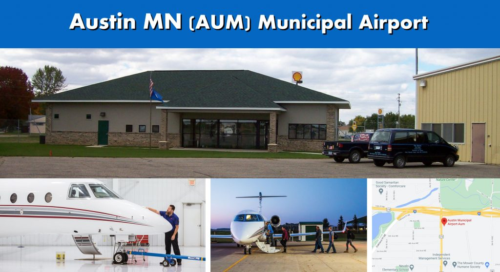 Austin MN AUM Municipal Airport Photo Montage
