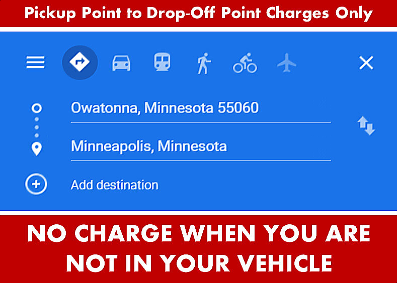 Google Directions Photo Image - Owatonna Minnesota to Minneapolis from Owatonna MN - Car Services - Private-Car-Services-Limo SUV Van Shuttle Party Limo Transportation - Directions From Owatonna MN to-from Minneapolis MN