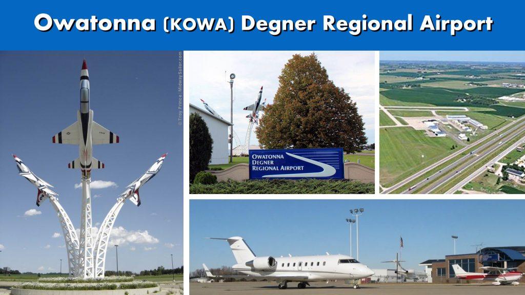 Owatonna MN Ninnesota KOWA Degner Regional Airport Photo Montage