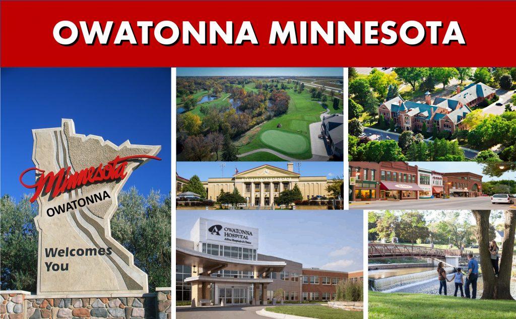 Owatonna MN Minnesota Website Page Banner City Photo Montage