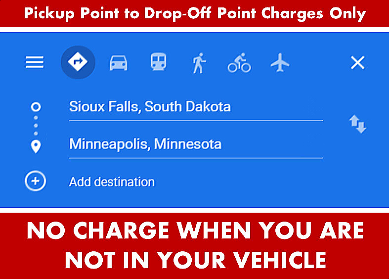Google Directions Photo Image - Sioux Falls South Dakota to Minneapolis from Sioux Falls SD - Car Services - Private-Car-Services-Limo SUV Van Shuttle Party Limo Transportation - Directions From Sioux Falls SD to-from Minneapolis MN