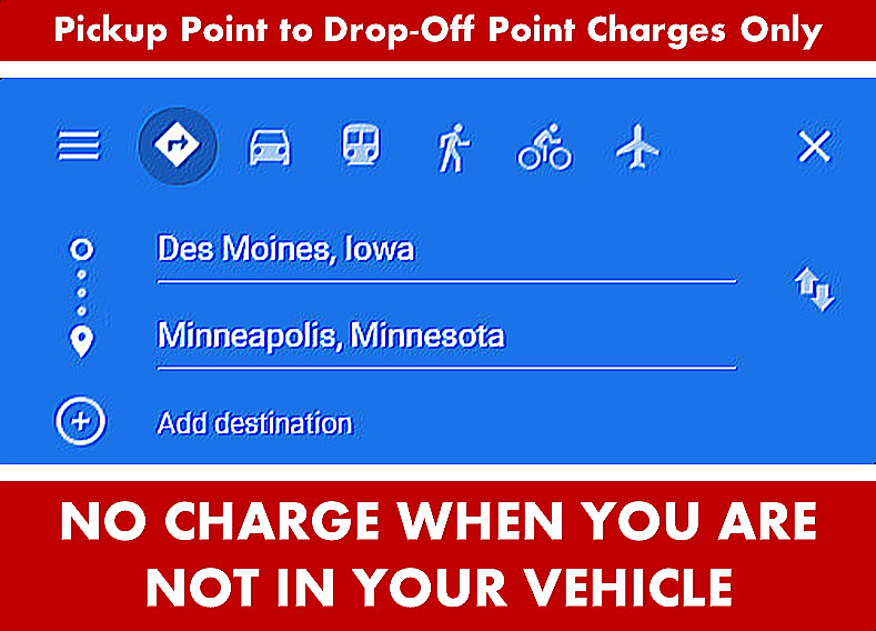 Des Moines Iowa to Minneapols Google Map Directions Search Panel