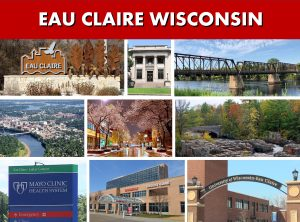 Eau Claire WI Wisconsin Website Page Banner City Photo Montage