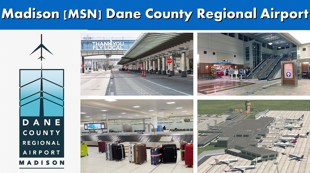 Madison WI Dane County MSN Regional Airport Serving the Madison Area - Airport Terminal Images