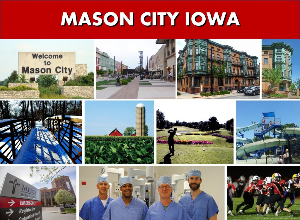 Mason City IA Iowa Website Page Banner Photo Montage